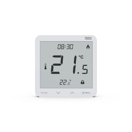 TECH  EU-R-10s PLUS vezetékes termosztát TECH  EU-L10 vezérlőhöz