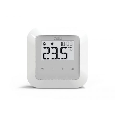 TECH  EU-R-10s vezetékes termosztát TECH  EU-L10 vezérlőhöz